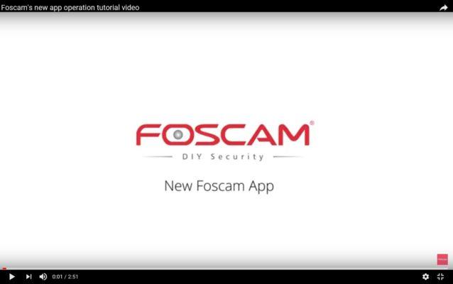 Foscam - Σύντομος οδηγός για νέο app