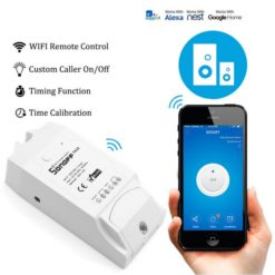 SONOFF Smart Διακόπτης TH10, υγρασίας - θερμοκρασίας, 10A, WiFi, λευκό